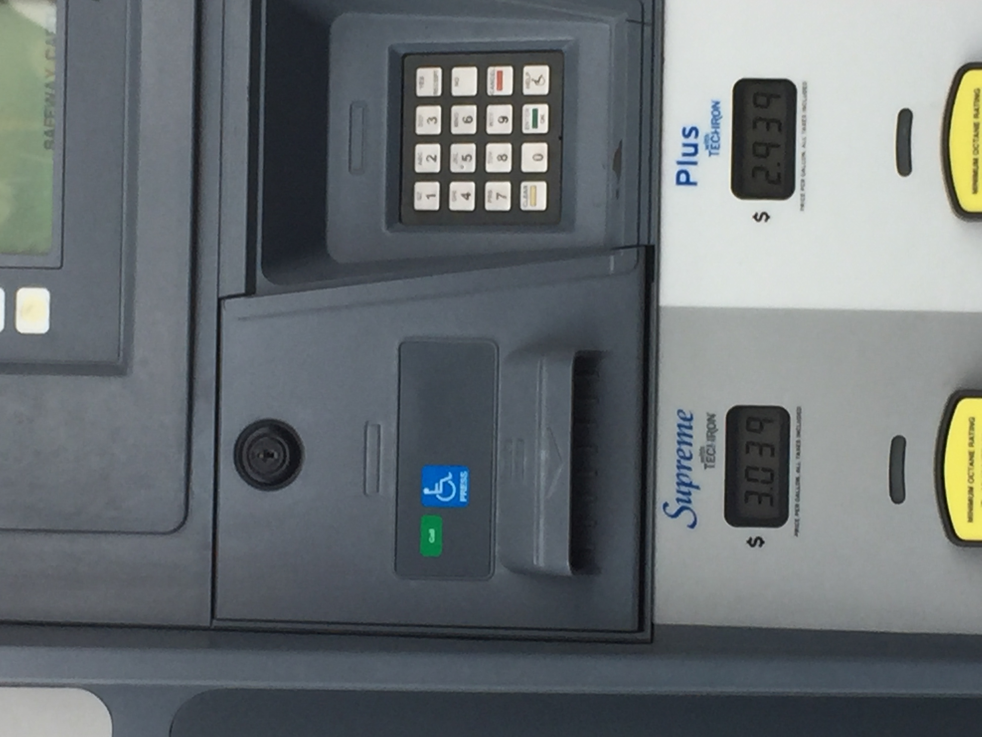 Pumps have call button and staff will come out to fuel car for you.
