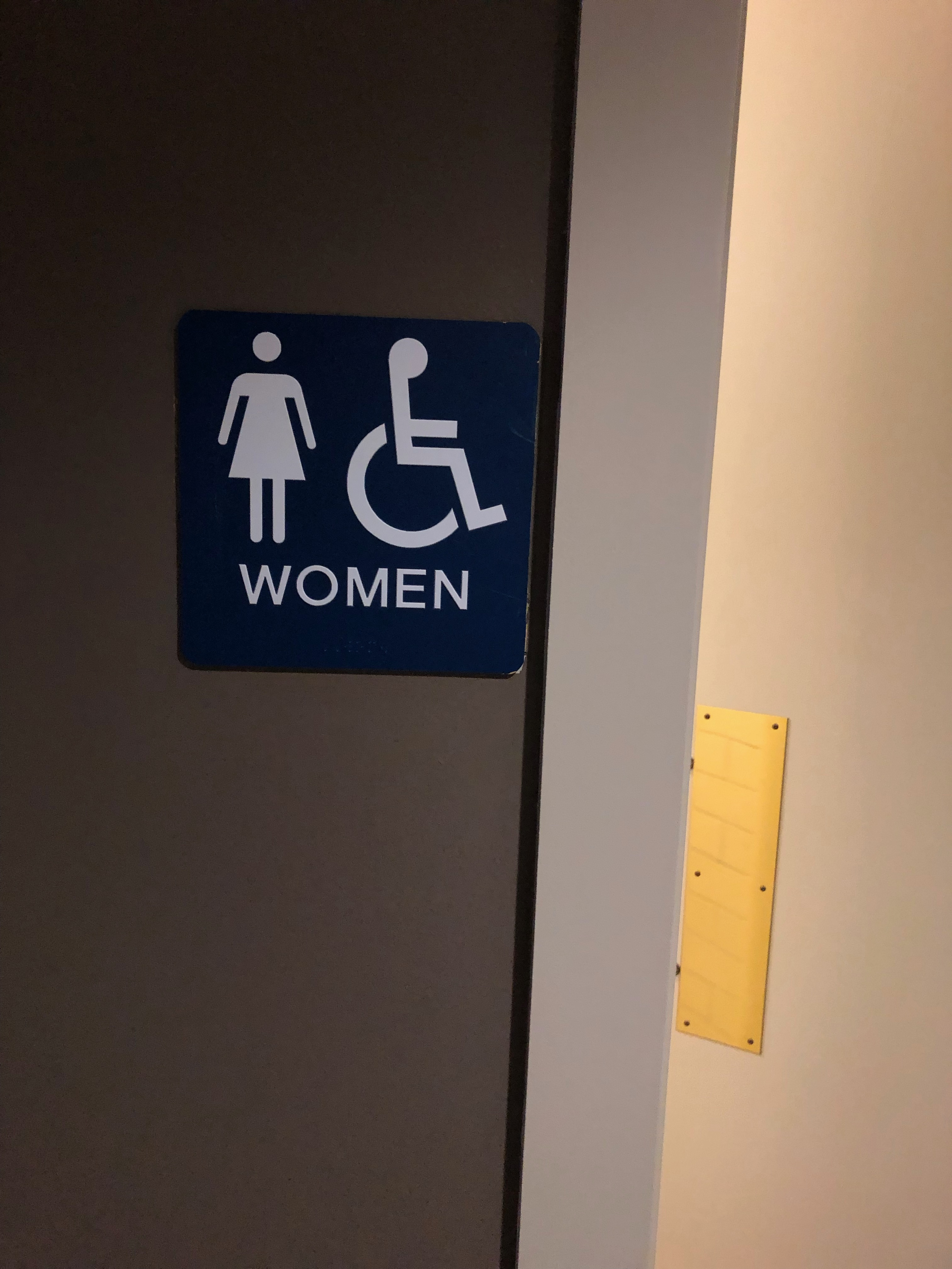 braille sign for restroom
