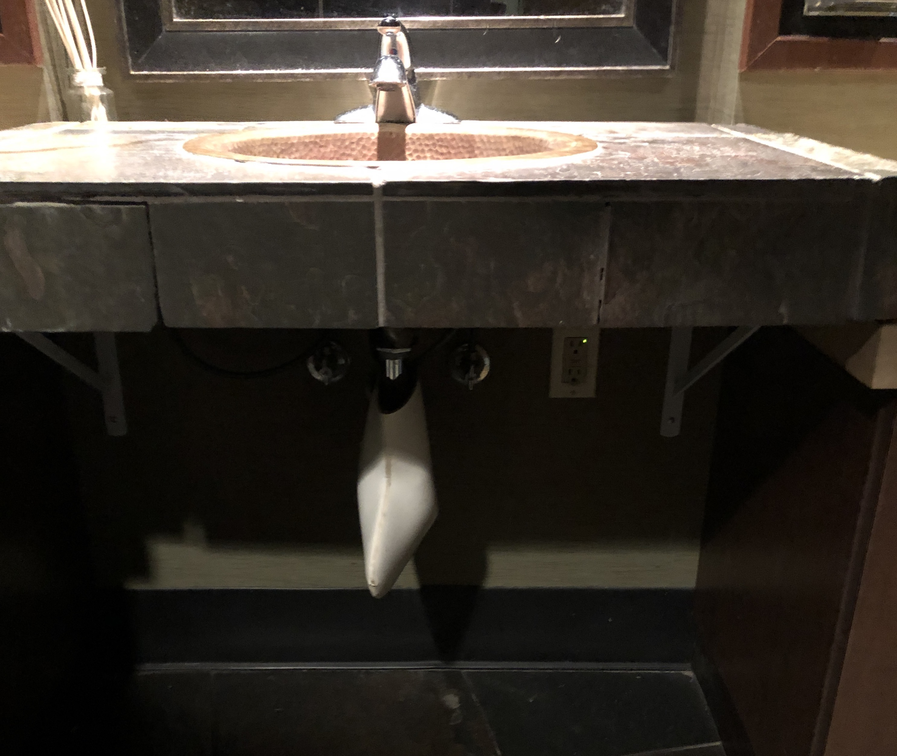 Women's accessible sink with pipe wrap