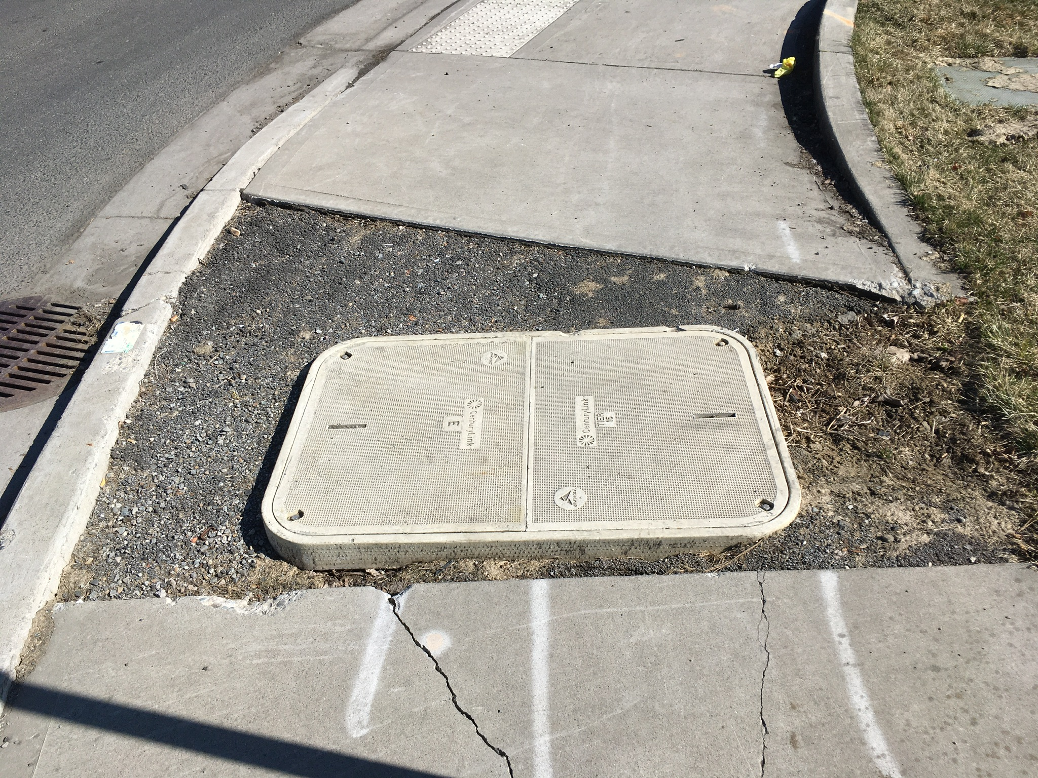 Sidewalk cracks and obstacles