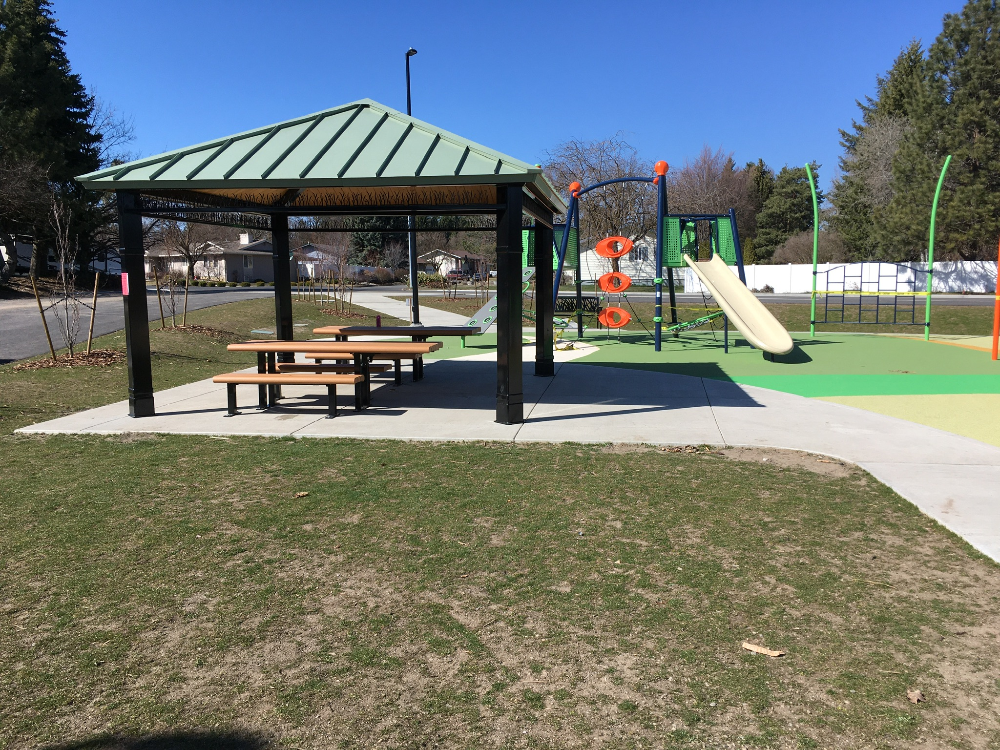 Picnic area with accessible tables