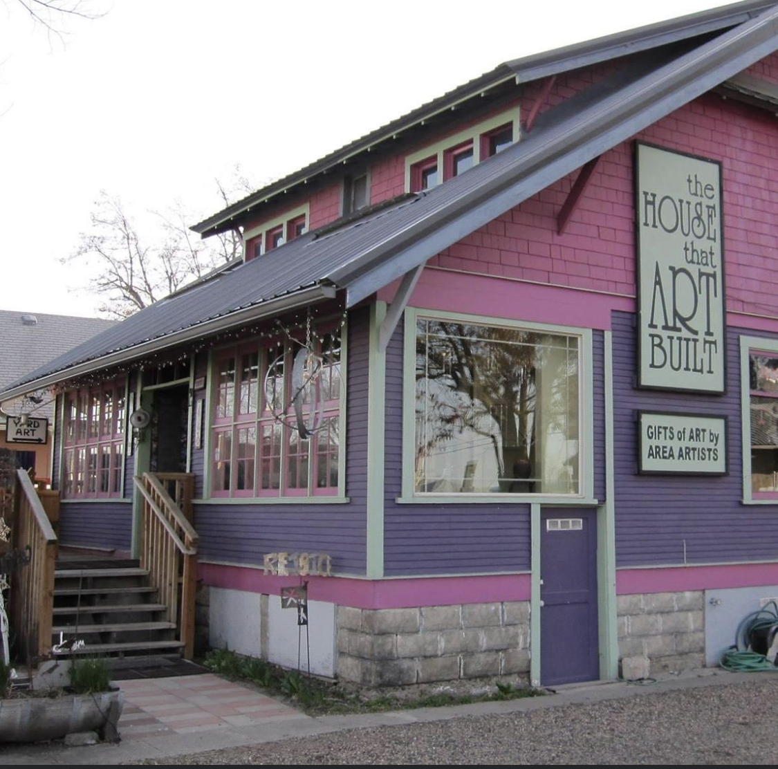 A picture of The House That Art Built a unique business that features local artists.